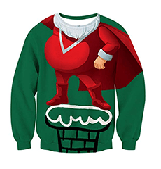 sweat funny santa claus