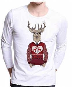tee-shirt manche longue renne