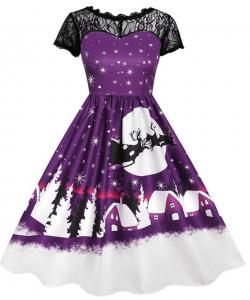 robe noel violette