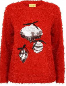 pull rouge de noel pour femmes