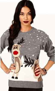pull femme noel gris avec renne